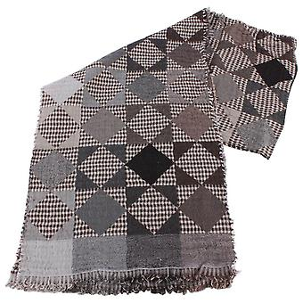 Bassin and Brown Hawthorn Patch Wool Scarf  - Grey/Brown