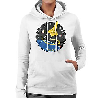 NASA STS 120 Shuttle Mission Imagery Patch Women's Hooded Sweatshirt