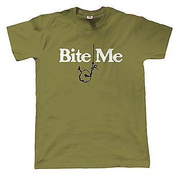 Bite Me Mens Funny Carp Fishing T Shirt - Gift for Dad Grandad Birthday