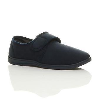 Ajvani mens adjustable comfort diabetic orthopaedic slippers grip sole house shoes size
