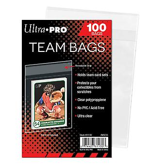 Ultra Pro Team/Kit Bags-reclosable Plastic pockets 100-Pack