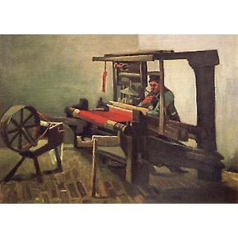 Weaver face à gauche avec la roue qui tourne, Vincent Van Gogh, 61x85cm