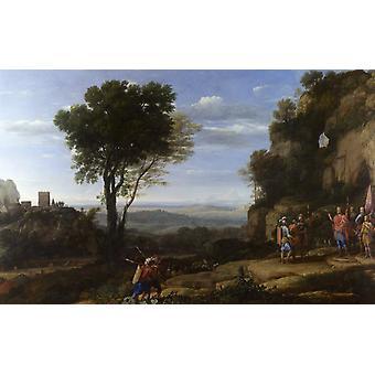 Пейзаж с Дэвидом и трех героев, Клод Лоррен, 40x60cm с лотка