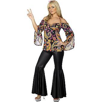 Hippie-Kostüm, UK Kleid 24-26