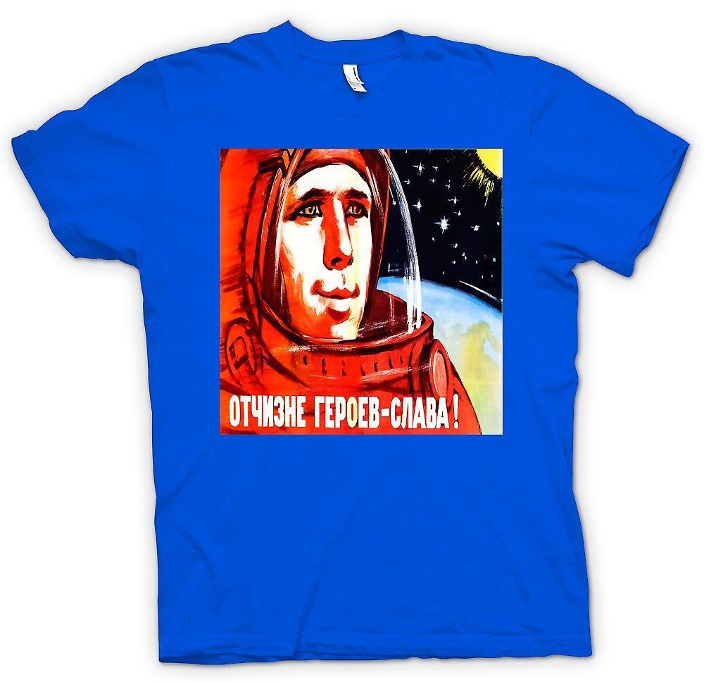 Heren T-shirt - Yuri Gagarin - Russisch ruimtevaarder