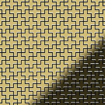 Metal mosaic Brass ALLOY Swiss-Cross-BM
