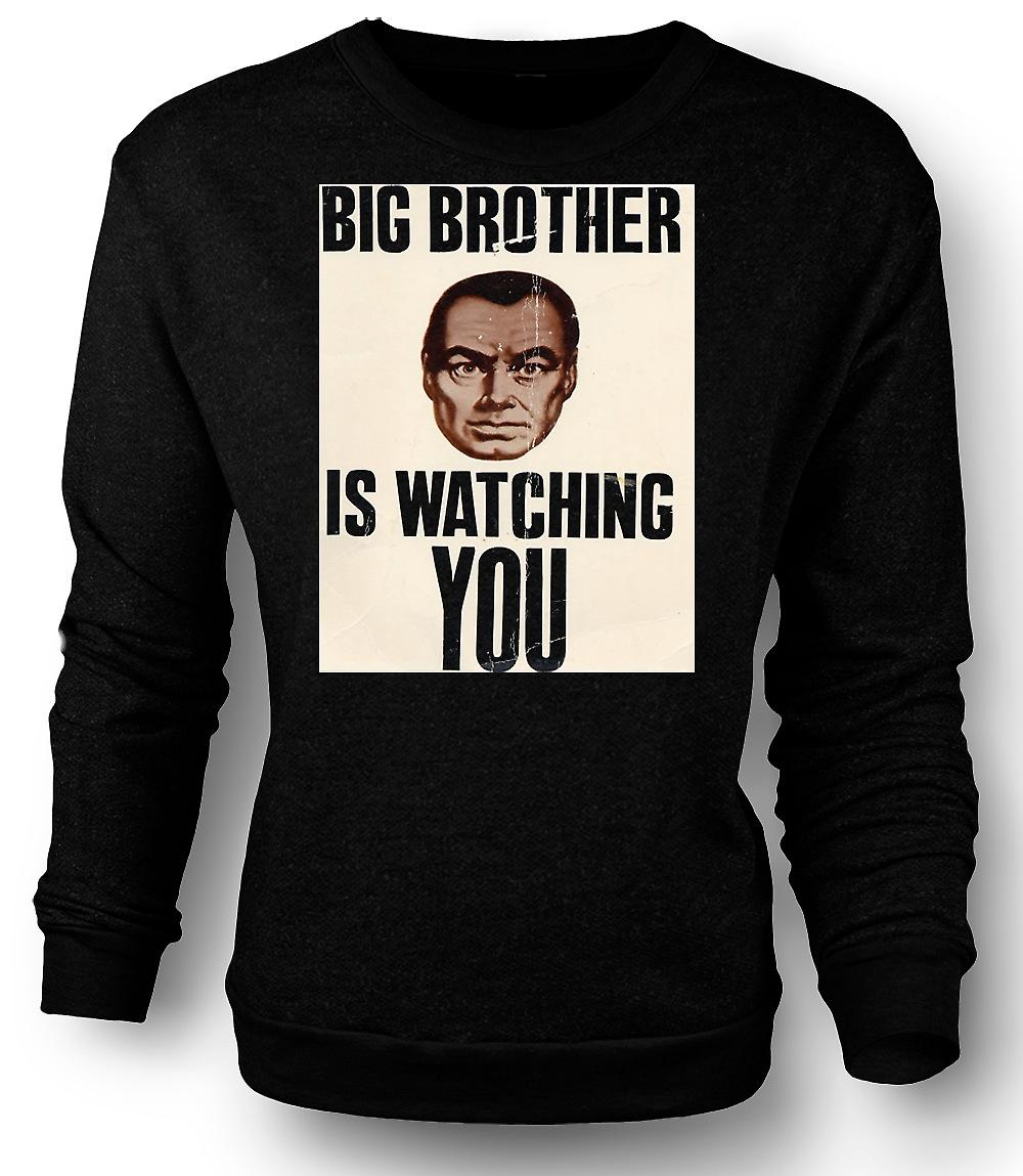 Mens Sweatshirt Big Brother Is Watching You - Poster