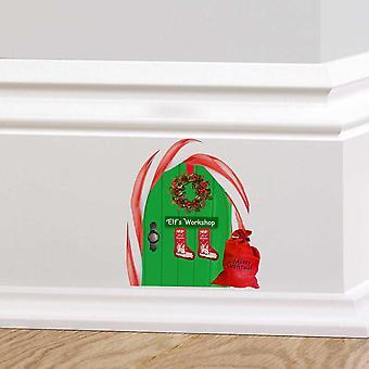 Full Colour Elfs Workshop Fairy Door Wall Sticker