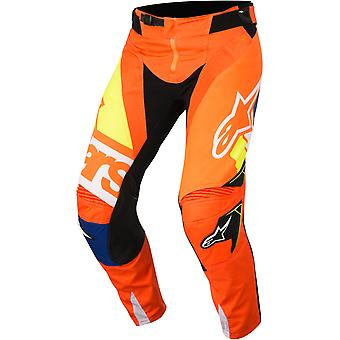 Alpinestars Orange-Blue-White 2018 Techstar Factory MX Pant
