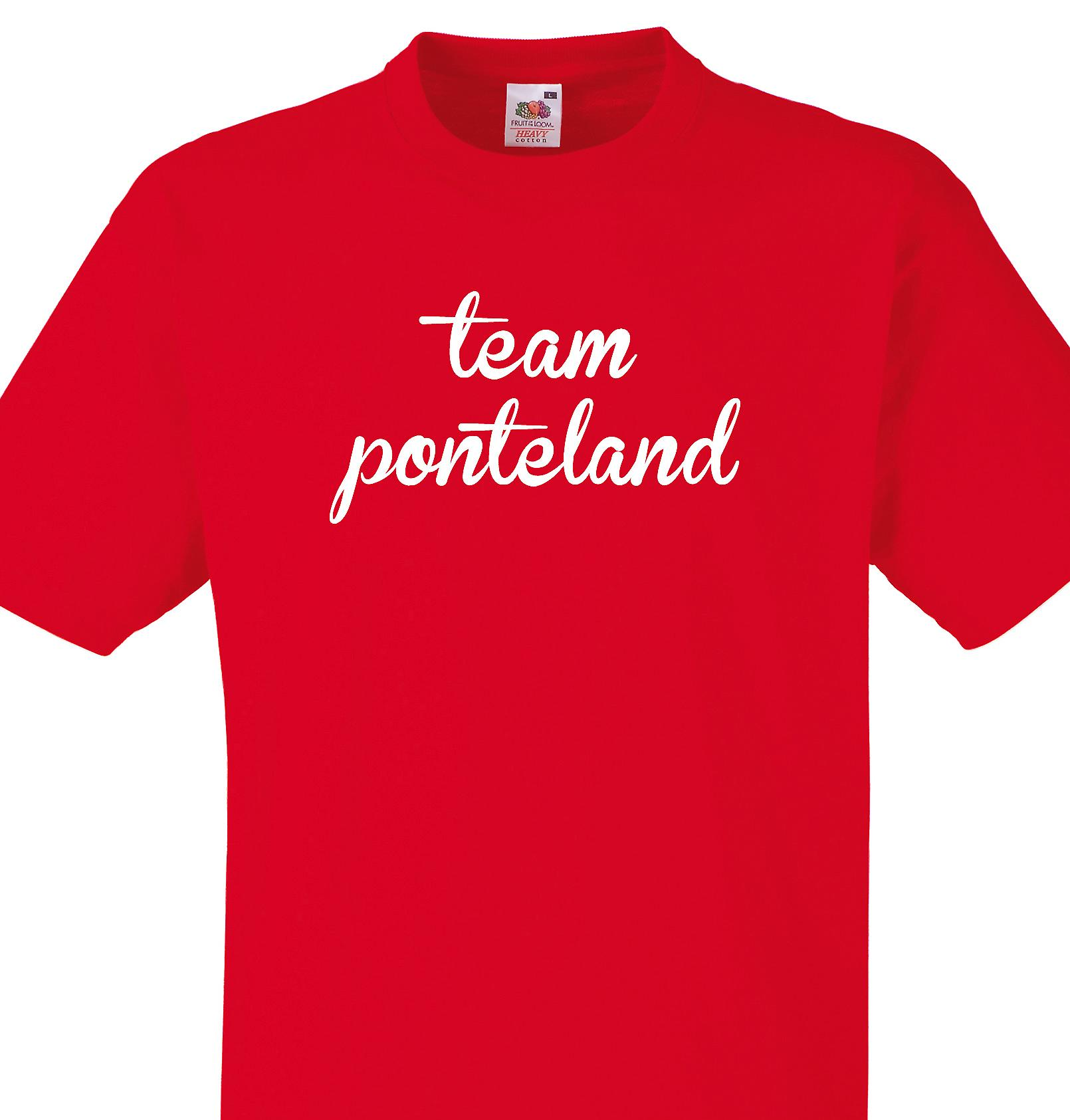 Team Ponteland Red T shirt