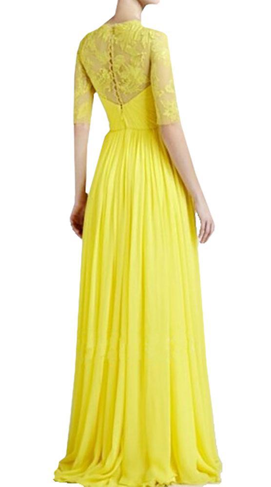 Waooh - lang kjole med halsen blonder Izig