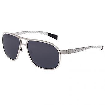 Breed Concorde Titanium and Carbon Fiber Polarized Sunglasses - Black/Silver