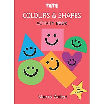 Färger & former: Klistermärke aktivitetsbok