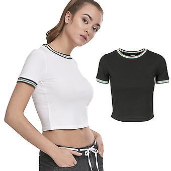 Urban classics ladies - RIB short top shirt