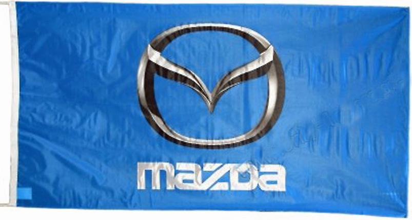 Large Mazda flag (blue bgrd) 1500mm x 900mm    (ob of)
