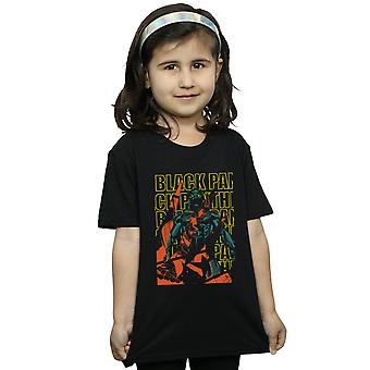 Marvel Girls Avengers Black Panther Collage T-Shirt