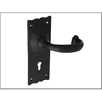Forge Handle Lock - Antique Black Powder Coated 153mm