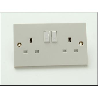 2 GANG 13AMP SWITCHED SOCKET CLAM PACK