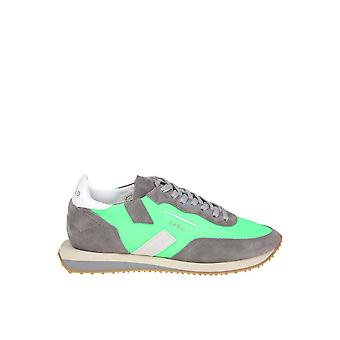 Ghoud Green Fabric Sneakers