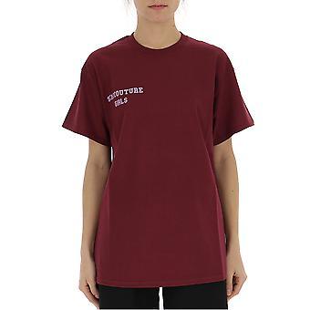 Semi-couture Emma Burgundy Cotton T-shirt
