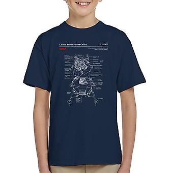 NASA-Mondlandefähre Landung Blueprint Kinder T-Shirt