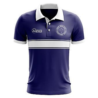 Nowa Zelandia koncepcja koszula Polo z paskiem (Navy)