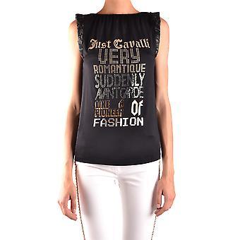 Just Cavalli Black Cotton Top
