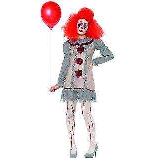 Vintage clown Lady dames kostuum Halloween carnaval