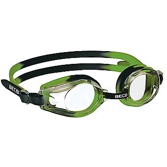 Beco Kids Rimini Swim Goggles - Clear Lens - Green/Black frame