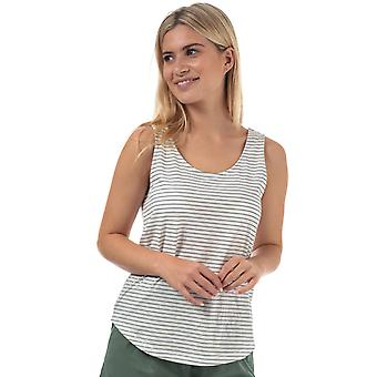 Womens Vero Moda Rebecca Stripe Jersey Vest In Snow White / Night Sky