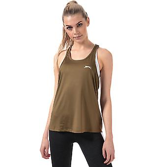 Womens Slazenger Rogue Swing Top In Khaki