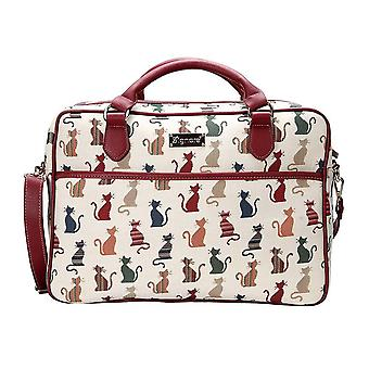 Cheeky cat laptop bag by signare tapestry / 15.6 inch / cpu-cheky