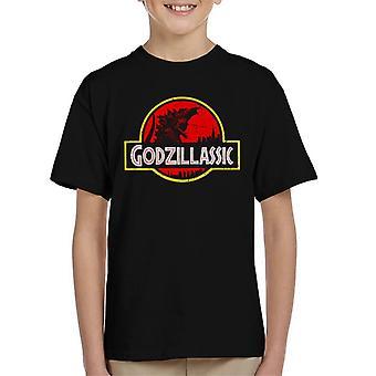 Godzillassic Godzilla Park Jurassic Logo Kid es T-Shirt