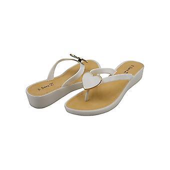 Sara Z Girls Big Heart Wedge Thong Sandal