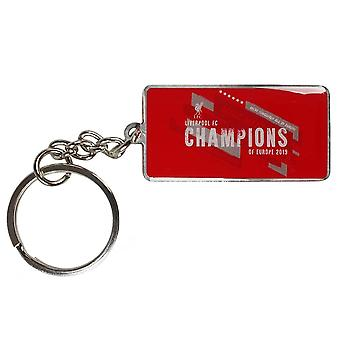 Liverpool FC Champions Of Europe Keyring