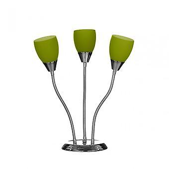 Premier hem bordslampa, glas, marmor, rostfrittstål, grön
