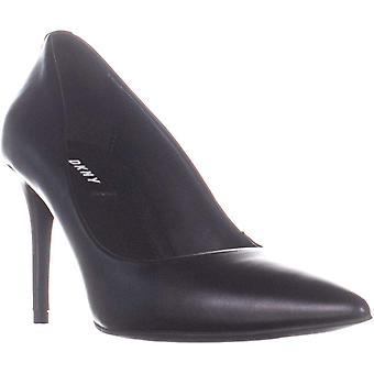 DKNY kvinnors Letty pump läder spetsiga tå klassiska pumpar