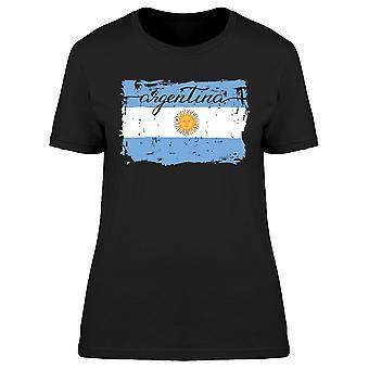 الأرجنتين رسمت العلم المحملة المرأة-صورة من قبل Shutterstock