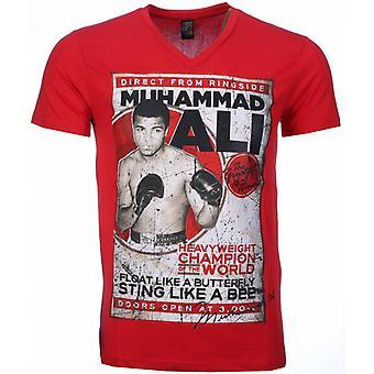 T-shirt-Muhammad Ali Print-Red