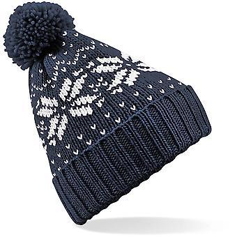 Beechfield - Junior Kids Fair Isle Snowstar® Beanie Hat Hat