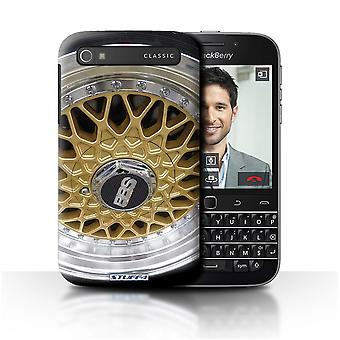 STUFF4 Case/Cover for Blackberry Classic/Q20/Gold/Chrome/Alloy Wheels