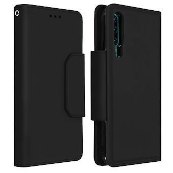 Magnetic Detachable Wallet Folio Case for Huawei P30 - Black