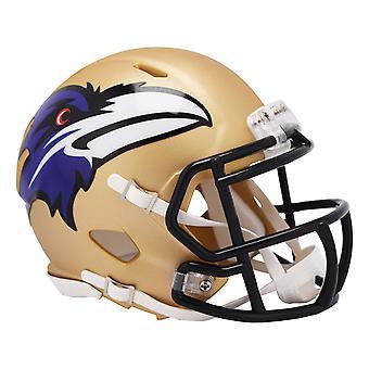 Riddell Speed Mini Football Helm - NFL AMP Baltimore Ravens