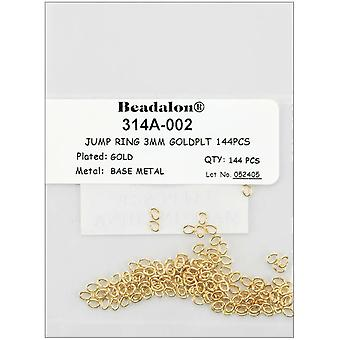 Jump Rings 3Mm 144 Pkg Gold 314A 002 144G