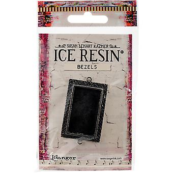 Ice Resin Milan Bezels Closed Back Rectangle Medium-Antique Silver IRB50773