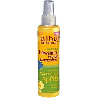 Alba Botanica Natural Hawaiian Dry Oil Sunscreen Nourishing Coconut Oil SPF 15