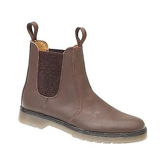 Amblers Mens Chelmsford Dealer Boots Leather PVC Pull On Fastening Footwear