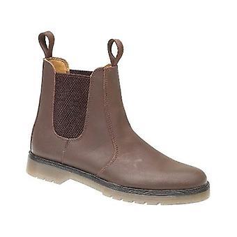 Gibt Mens Chelmsford Händler Stiefel Leder PVC Pull auf Befestigung Schuhe