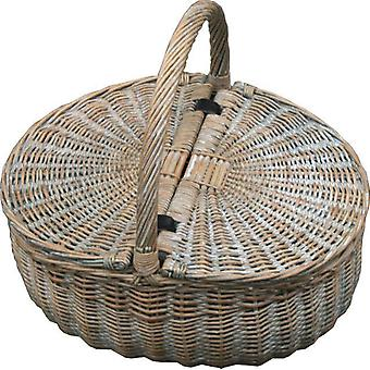 Provence Double Lidded Empty Picnic Basket