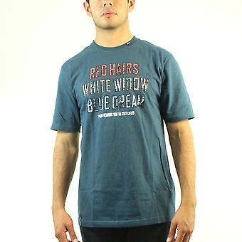 Lifted Research Group Red Hairs White Widow Blue Dream Quote Men's Blue T-shirt